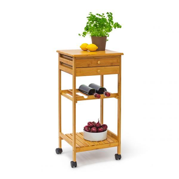 Küchen: Küchenrollwagen JAMES M & Flaschenregal
