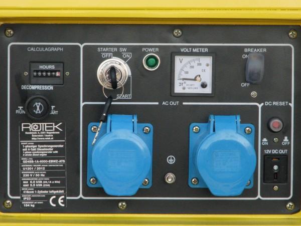 Stromerzeuger GD4SS-1A-6000-EBWZ-UP-ATS Rotek