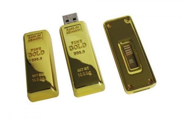 1GB USB Stick Memory Flash Drive 2.0 Goldbarren