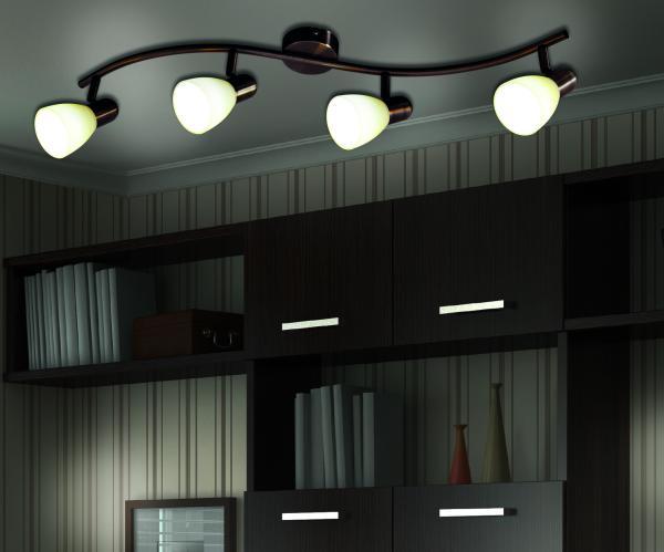 "4er LED-Wand-u. Deckenspot ""Mestre"""