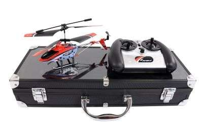 Spezial Gummi Helikopter LevelX indoor mit Gyroskop im Alukoffer