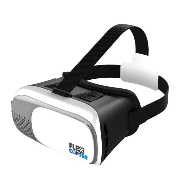VR-Brille - schauen aus der Vogelperspektive.