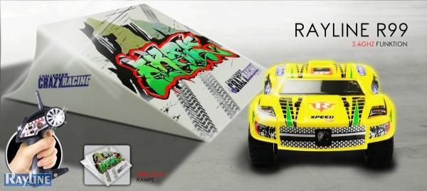 R99 ferngesteuertes Mini RC Auto inklusive Stunt Rampe