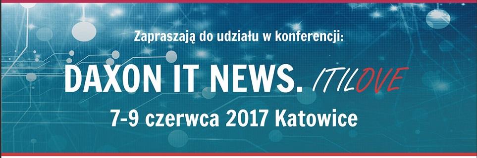 Plakat konferencji DAXON IT NEWS. ITILove