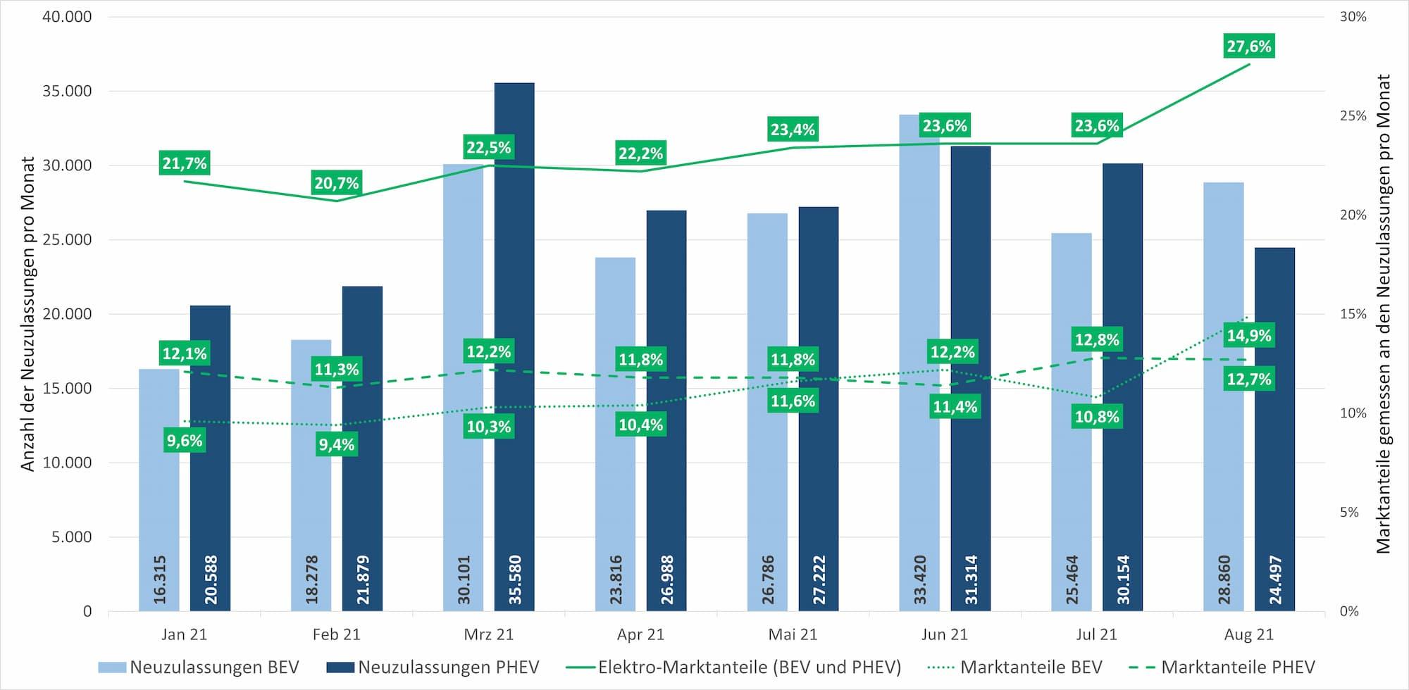 Marktanteile Elektromobilität Deutschland