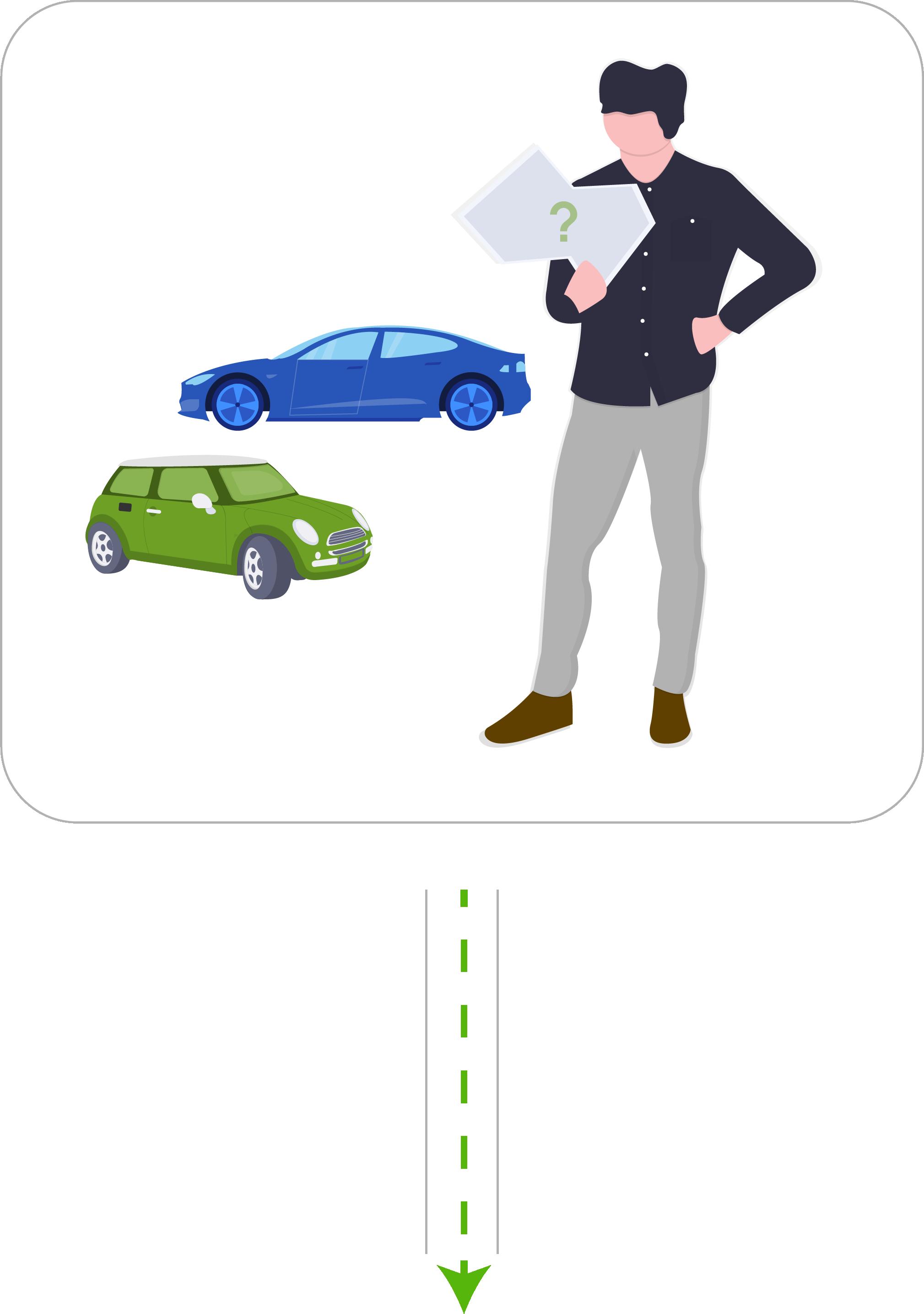 Ben hat die Wahl: Verbrenner oder ein Elektrofahrzeug?