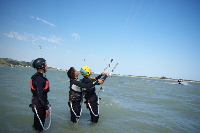 Initiation kitesurf leucate