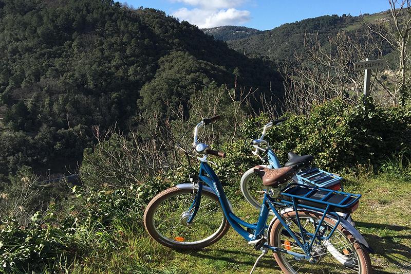 Balade à vélo sur la dolce via depuis cheyard