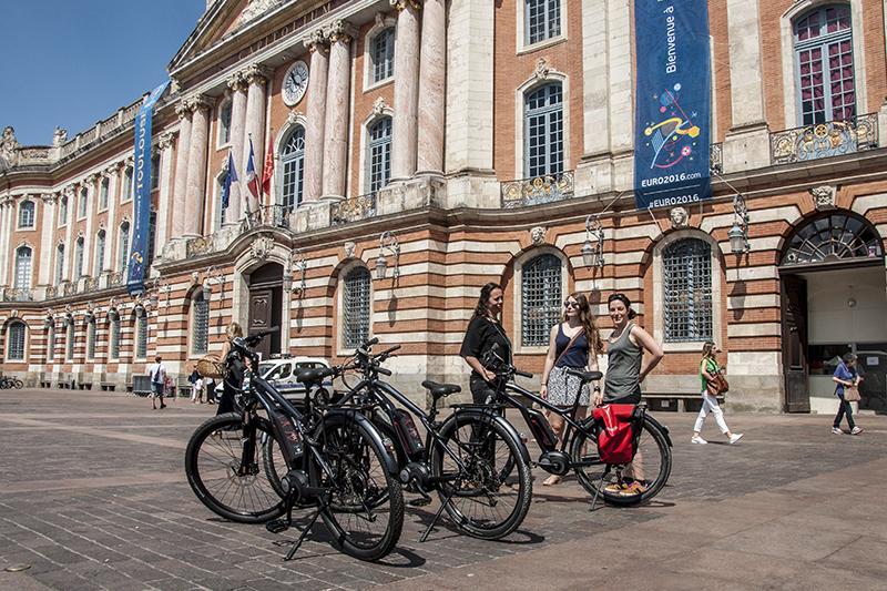 Toulouse à vélo électrique