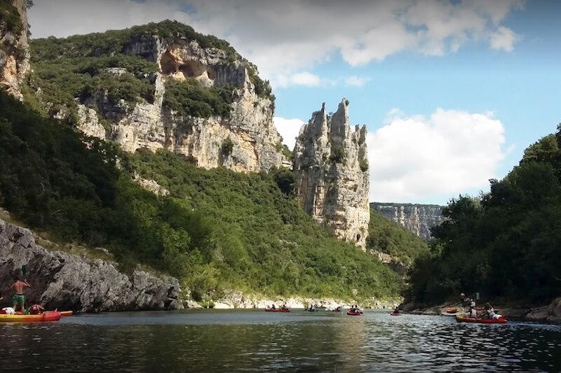 Descente en canoë kayak de l'ardèche 8km