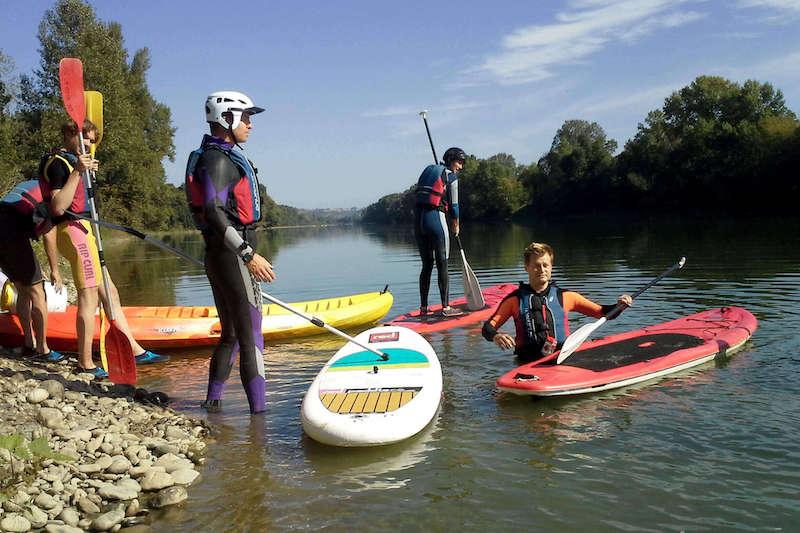 Descente en stand up paddle