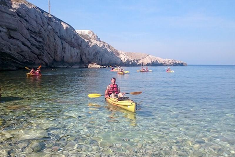 Randonnée en kayak  baie de marseille