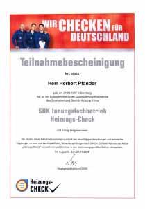 SHK Innungsfachbetrieb Heizungs-Check