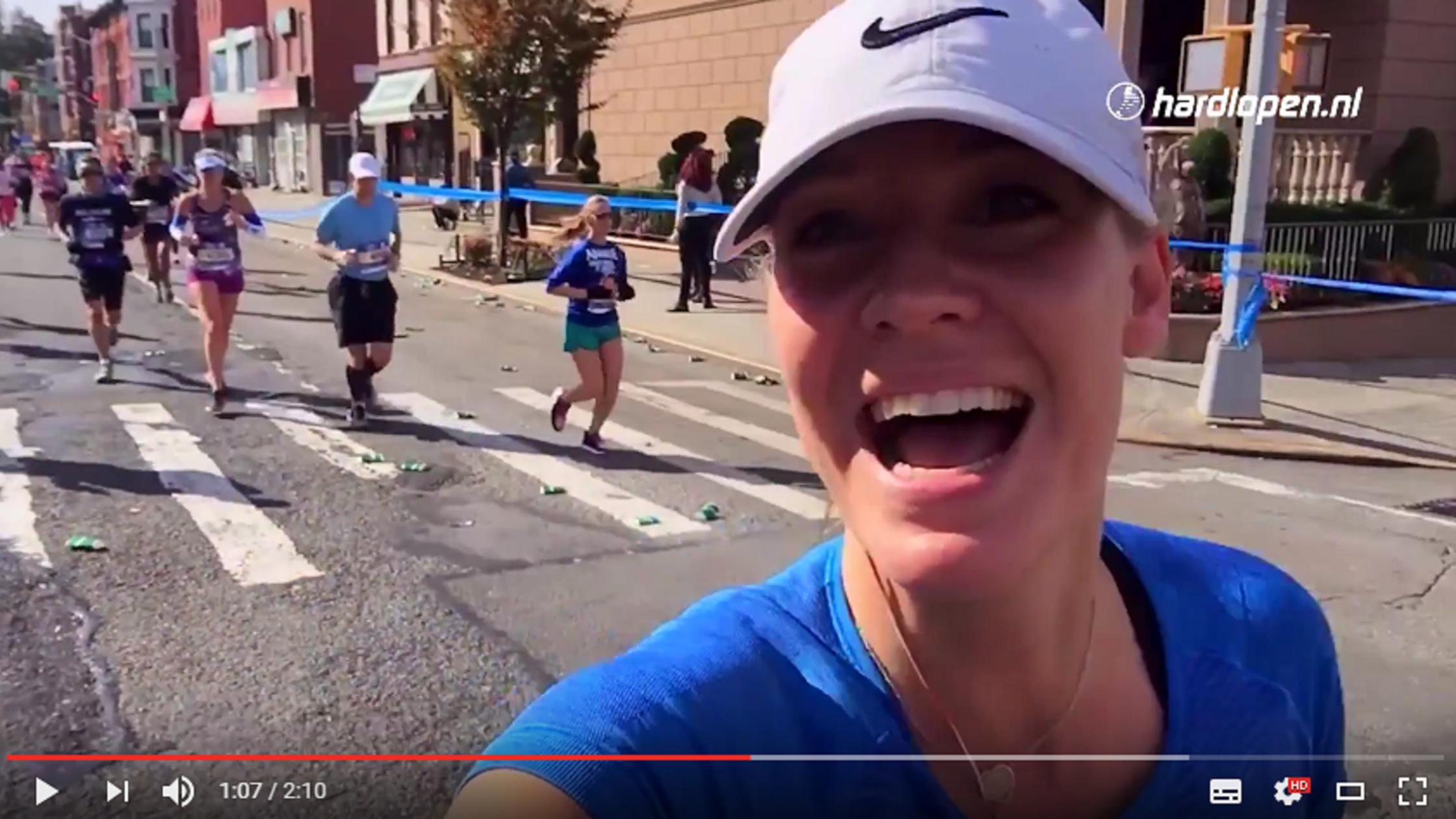 Vlogger Annemerel de Jongh bij de marathon van New York!