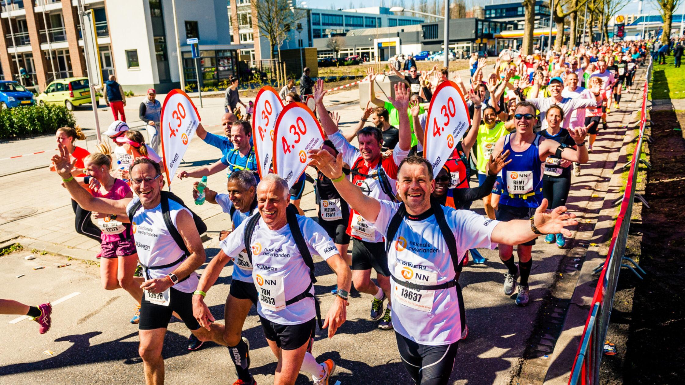Kies jouw tempogroep bij de NN Marathon Rotterdam