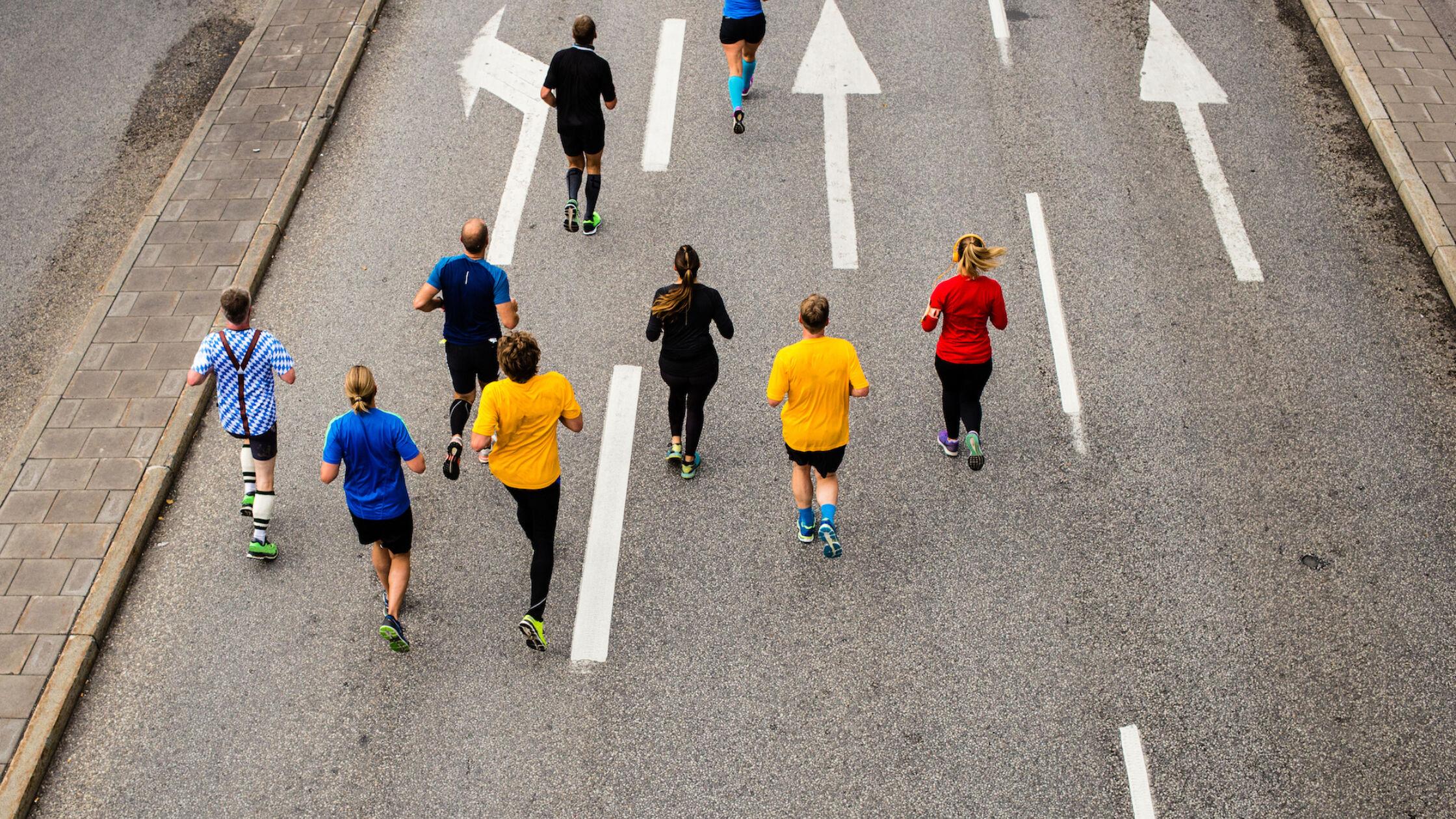Warmlopen voor Marathon Eindhoven in het theater