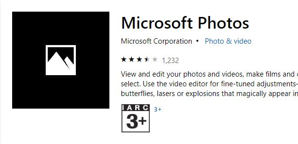 Microsoft Photos App not working?