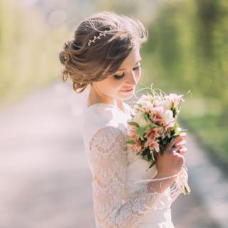 Perfekte Brautfrisur