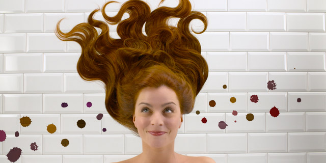 Haare färben ohne Flecken