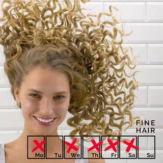 Haare-waschen-Routine