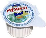 Вершки President порційні 10%