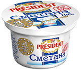 Сметана President 10%