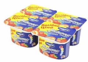 Йогурт Danone Живинка Персик-маракуйя 4шт