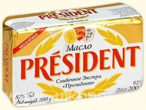 Масло President вершкове Екстра 82%