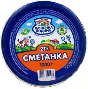Сметанний продукт Молочна родина Сметанка 21%