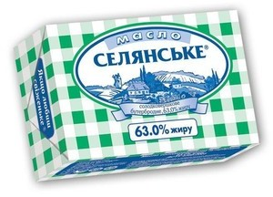 Масло Люстдорф селянське 63%