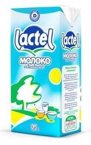 Молоко Lactel з вітаміном D 0,5%