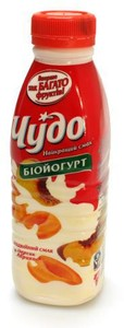 Йогурт питний Чудо персик-абрикос 2,5%