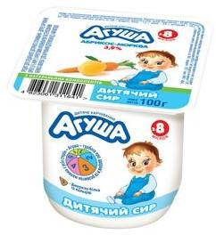 Сирок Агуша абрикос-морква 3,9%