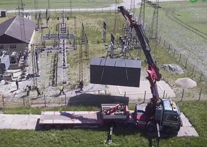 Mobil lösning för renovering av transformatorstationer