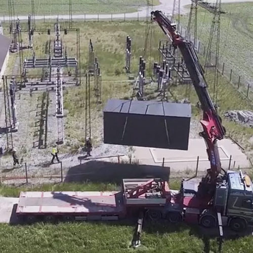 Mobile solution for renovating transformer stations