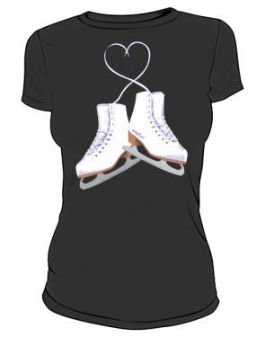 Koszulka z łyżwami figurowymi