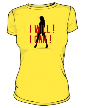 koszulka I will I can złóta