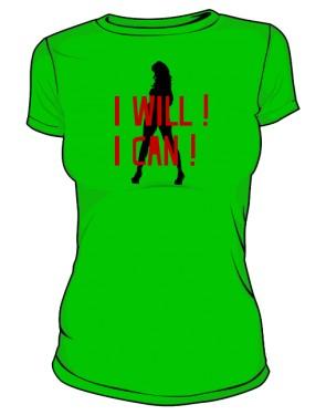 koszulka I will I can zielona