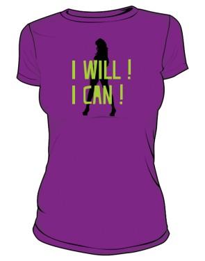 koszulka I will I can fioletowa