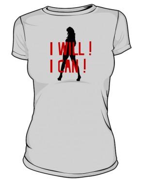 koszulka I will I can szara