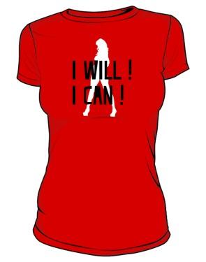 koszulka I will I can czerwona