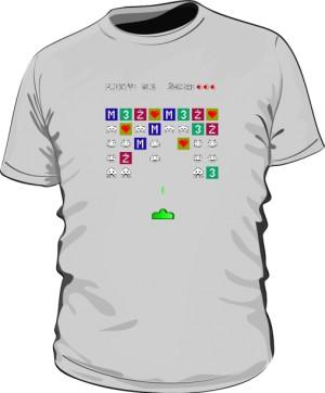Koszulka Space Invaders szara