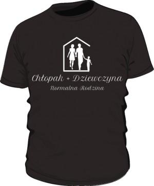 Koszulka Normalna Rodzina Czarna