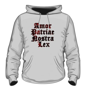 Bluza z kapturem Amor Patriae Nostra Lex