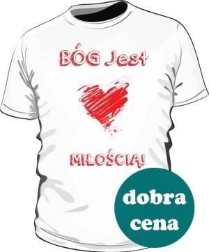 Koszulka Bóg Jest Miłością Biała
