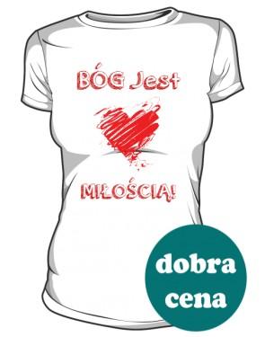 Koszulka Bóg Jest Miłością Damska