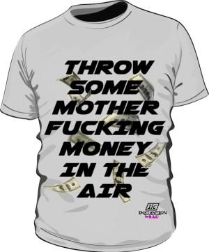 Koszulka MONEY IN THE AIR Męska Szara