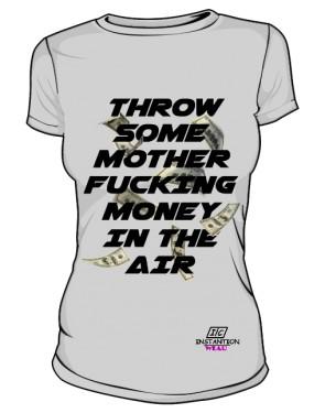 Koszulka MONEY IN THE AIR Damska Szara