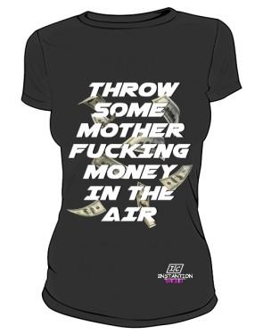 Koszulka MONEY IN THE AIR Damska Czarna