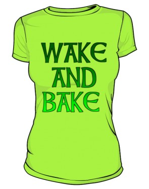 Wake And Bake Green Woman